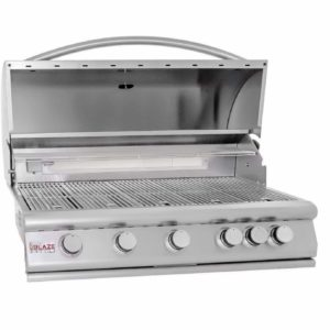 "40"" 5-Burner Built-In Gas Grill with Rear Infrared Burner Gas Type: Natural"