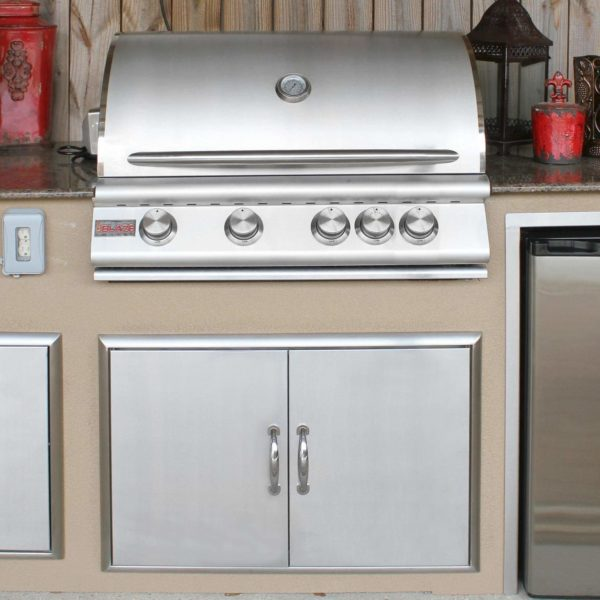 "32"" 4-Burner Built-In Gas Grill with Rear Infrared Burner Gas Type: Natural"