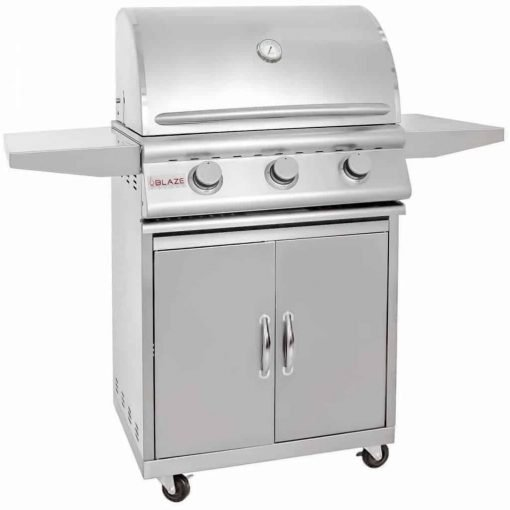 Blaze 25-inch Grill (BLZ-3-NG-BLZ-3-CART), Freestanding, Natural Gas
