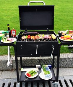 WUYU Charcoal Grill Portable Lightweight Simple Charcoal Grill Perfect Foldable BBQ Grill for Outdoor Campers Barbecue Picnic Patio Backyard Camping Tailgating Steel Cooking Grate for Steak Chicken