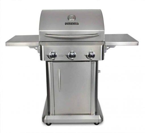 Chef's Grill RT2417S-1 3-Burner 36000-BTU Liquid-Propane Gas Grill, Stainless Steel, 552 sq. in.