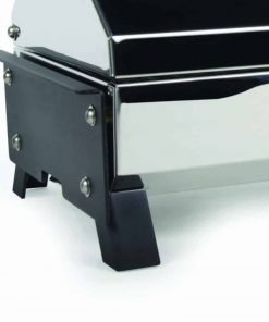 Camco 57240Olympian 3500-C Stainless Steel Portable Electric Grill by - 1500 Watts of Adjustable Cooking Power, Integrated Folding Legs For Tabletop Use - 145