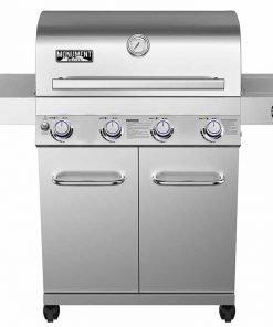 4-Burner Propane Gas Grill,Stainless, LED Controls,Side Burner,Rotisserie
