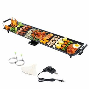 New Camping Electric Teppanyaki Table Top Grill Griddle Barbecue Plate Nonstick