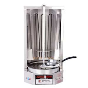 Autodoner 3PE-208V Optimal Electric Vertical Broiler for Gyros, 208V Stainless Steel