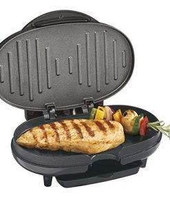 Black Cast Aluminum Compact Electric Grill
