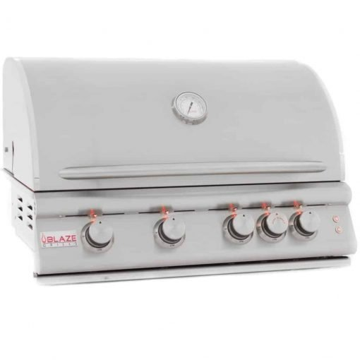 """Blaze LTE 32-Inch 4-Burner Built-In Natural Or Propane Gas Grill With Rear Infrared Burner & Grill Lights - BLZ-4LTE-NG Or BLZ-4LTE-LP (32"""" Natural Gas)"""