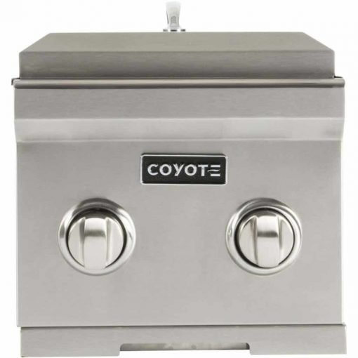 Coyote 12-Inch Built-in Double Side Burner, Natural Gas