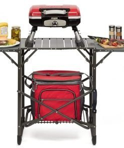 Cuisinart CGG-180T Petit Gourmet Portable Tabletop Gas Grill, Red + Cover