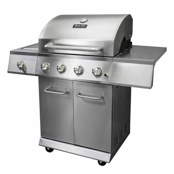 Dyna-Glo DGE Series Propane Grill, 4 Burner, Stainless