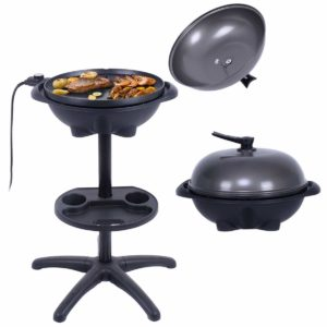 Electric BBQ Grill 1350W Non-stick 4 Temperature Setting Outdoor Garden Camping