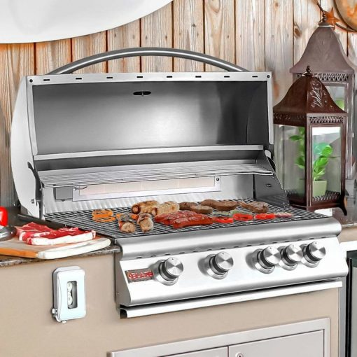 """32"""" 4-Burner Built-In Gas Grill with Rear Infrared Burner Gas Type: Natural"""