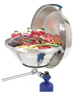 "Magma Marine Kettle Gas Grill Party Size 17"" w/ Hinged Lid"