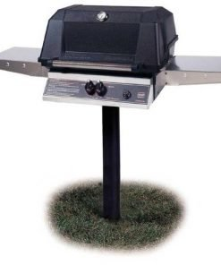 Mhp Gas Grills Wnk4dd Natural Gas Grill W/ Stainless Grids On In-ground Post