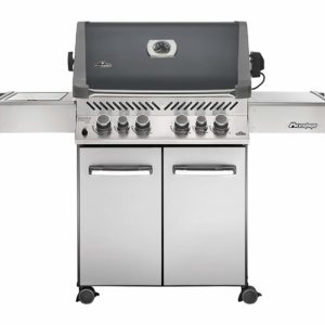 Napoleon Grills P500RSIBNCH-1 Prestige 500 6 Burner Charcoal Natural Gas Grill Rear & Side Burner