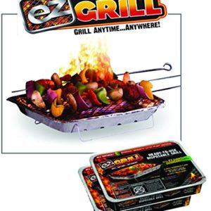 Original Instant Disposable Charcoal Grill On-the-Go Ready to Use by EZGrill Regular Size -2 Pack