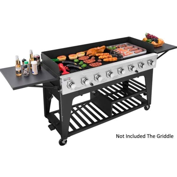Royal Gourmet 8-Burner Liquid Propane Event Gas Grill, BBQ, Picnic Camping Outdoor, Black