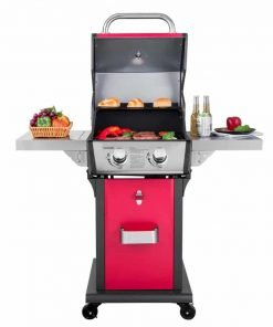 Royal Gourmet Cabinet Patio Propane Gas Grill, 2-Burner, Red