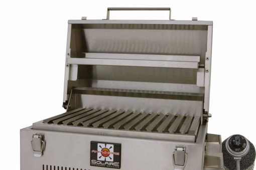 Solaire SOL-IR17BWR Portable Infrared Propane Gas Grill with Warming Rack, Stainless Steel, with Carrying Bag