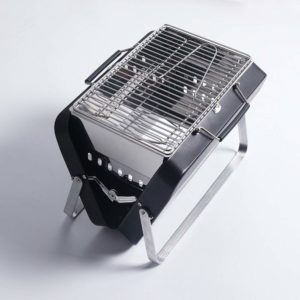 Sougem Portable Foldable Charcoal Grill Stainless Steel For Outdoor Barbecue Cooking Picnics Tailgating Backpacking,Small Size,Black