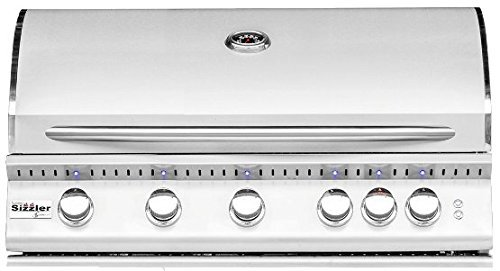 Summerset Sizzler Pro 40-inch 5-burner Built-in Natural or Propane Gas Grill W/ Rear Infrared Burner - SIZPRO40-NG or SIZPRO40-LP