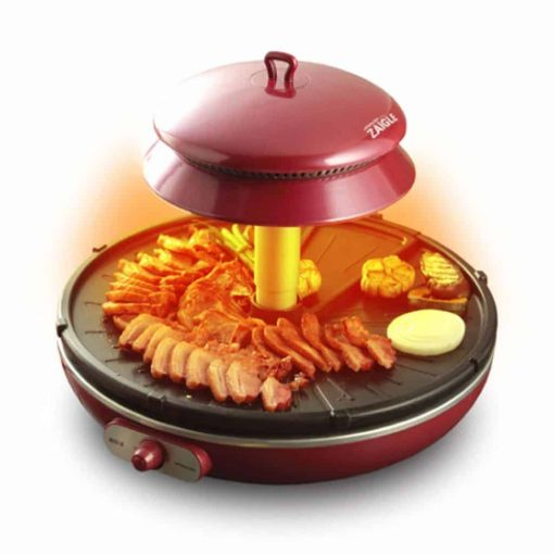 ZAIGLE Well-being Roaster Red ZR-0907 Electric Infrared Grill No-oil splatter, 220VZAIGLE Well-being Roaster Red ZR-0907 Electric Infrared Grill No-oil splatter, 220V