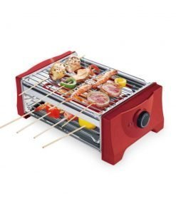 ZZ-aini Electric grills Smokers Portable BBQ, Camping Picnicking Table top Balcony-red 36x21.4x13cm