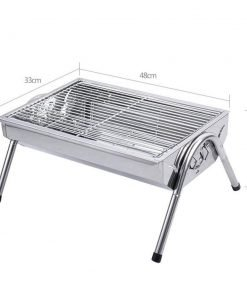 ZZ-aini Stainless steel Charcoal grills, Smokeless Portable Camping Picnicking BBQ Griddles-iron 483324cm